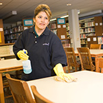 campus library cleaning